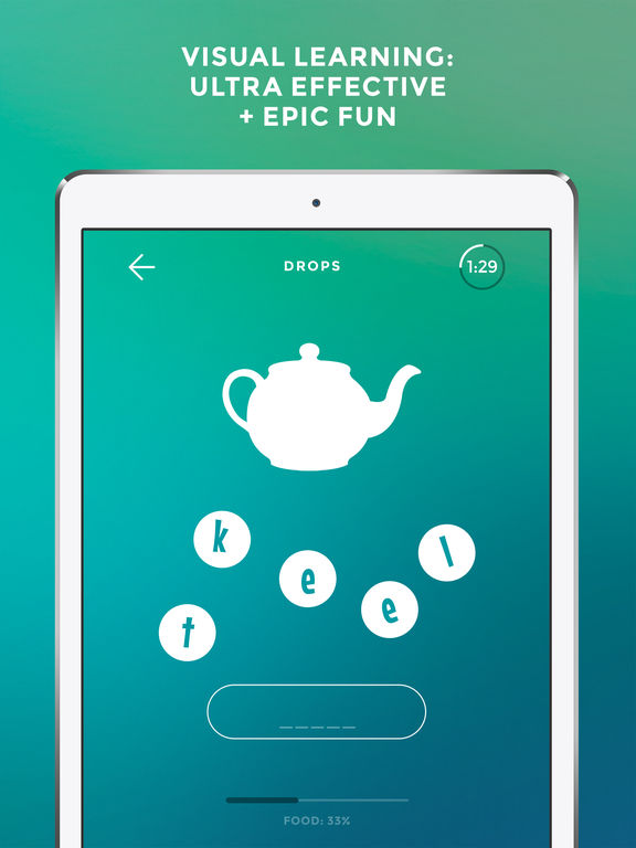 Screenshot #1 for Learn English language & words with Drops
