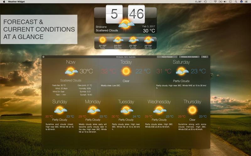 Weather Widget: Desktop forecast Australia Pro 앱스토어 스크린샷