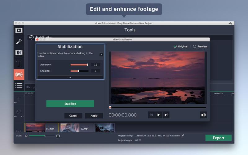 Video Editor Movavi: Easy Movie Maker Screenshots