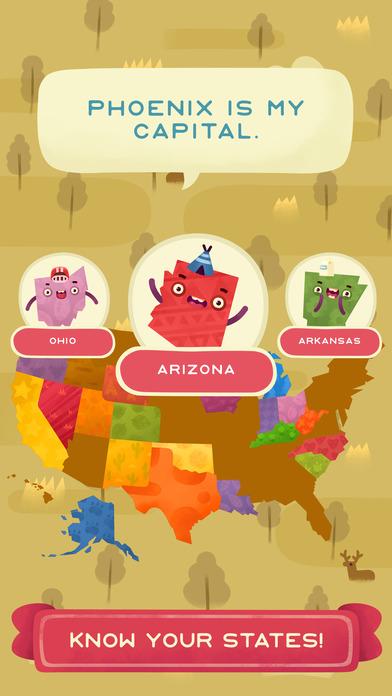 50 States (Ad Free) screenshot 3