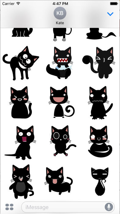 Black Cat Humor Sticker - Black Emoji Pack on the App Store