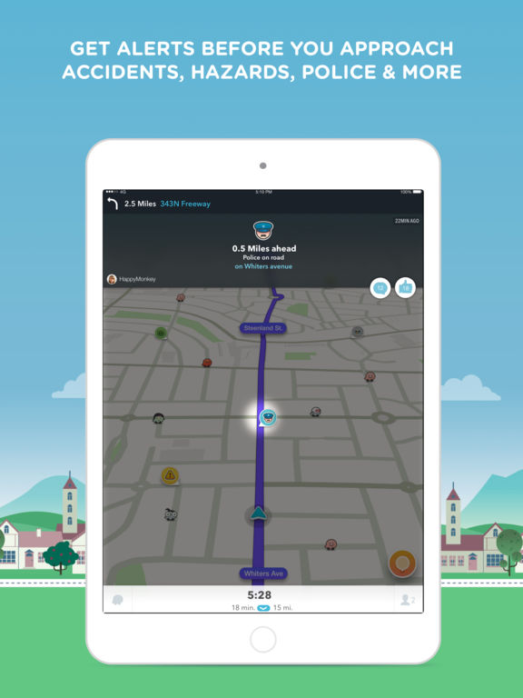 Waze social GPS traffic & gas screenshot 8