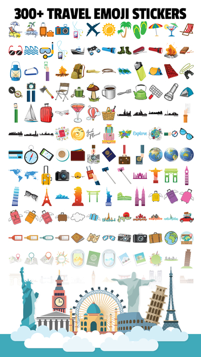 TravelEmoji - Vacation Travel Emoji Sticker App Screenshot