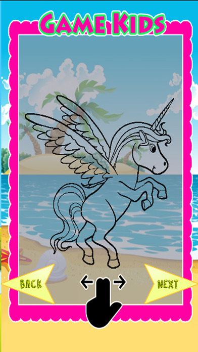 Paint Tiny Unicorn Games Coloring Pages App Download