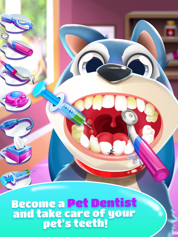 Pet Dentist Doctor Game! screenshot 5