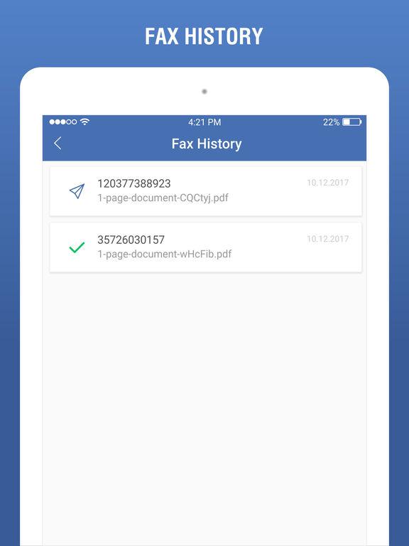 fax machine app iphone