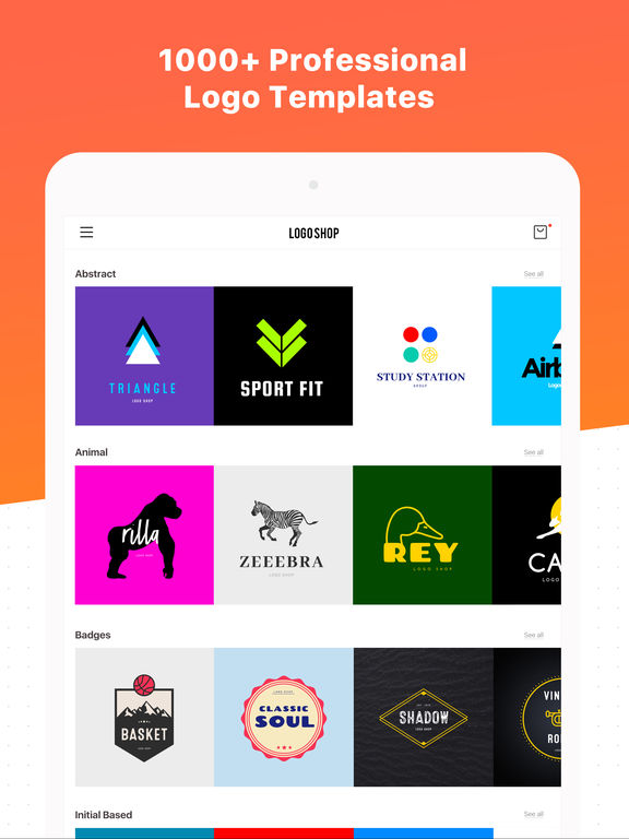 Logo maker shop text graphic design creator on the app for Store layout maker