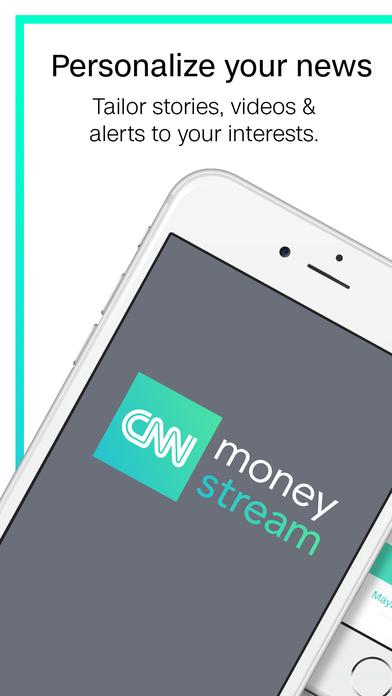 Screenshots of CNN MoneyStream for iPhone