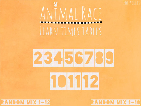 Animal Race: Learn times tables for kids. Screenshots
