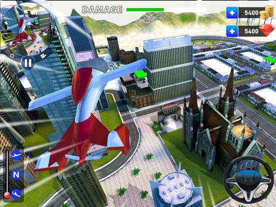 летающий робот Трансформация: реальный бой Боты Скриншоты8