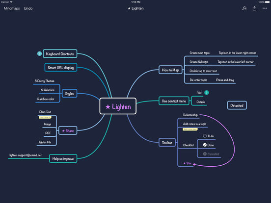 Screenshot #3 for Lighten - Brainstorming & Mind Mapping by XMind