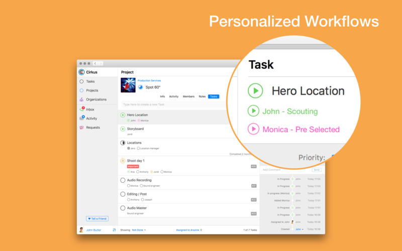 Cirkus: Task Manager for Mac