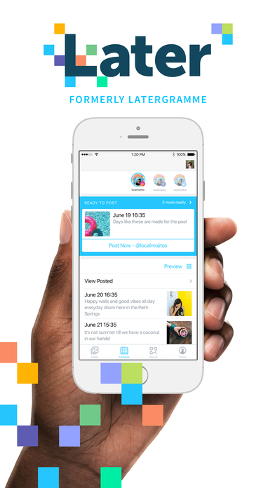 Later plan and schedule posts for instagram on the app store for Site plan app