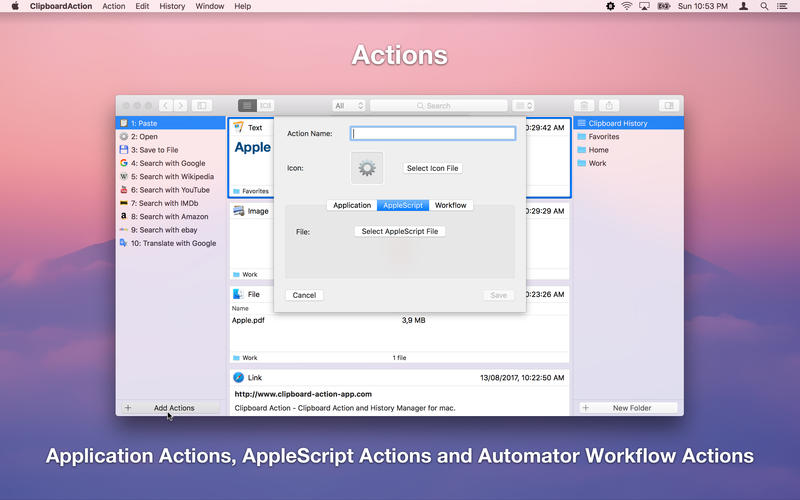 Clipboard Action for Mac 1.3.0 激活版 - 智能剪贴板历史管理器