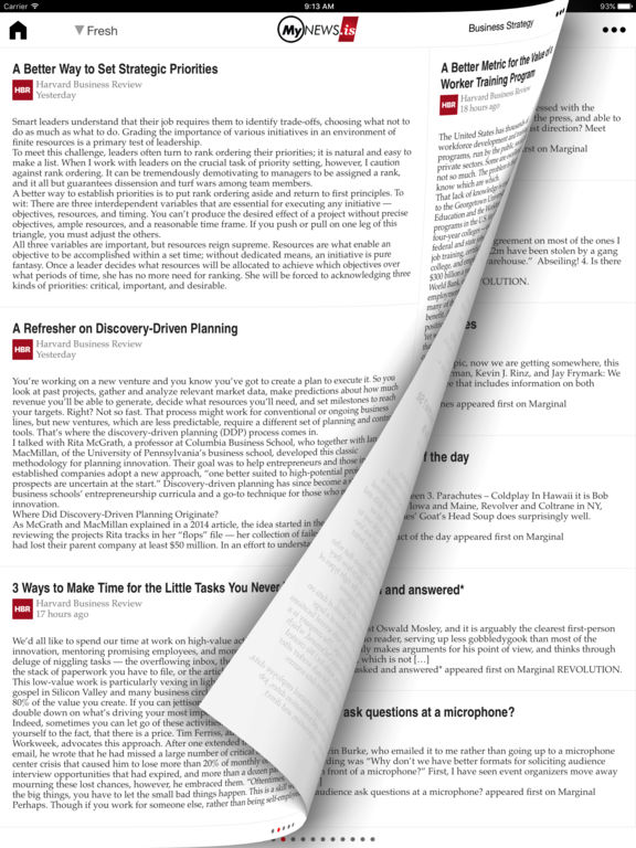 MyNews.is Pro - Intelligent News Reader Screenshots