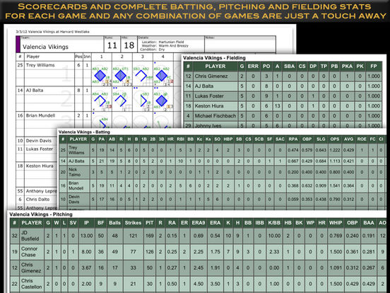 ESPN iScore Baseball Scorekeeper for iPad iPad Screenshot 4