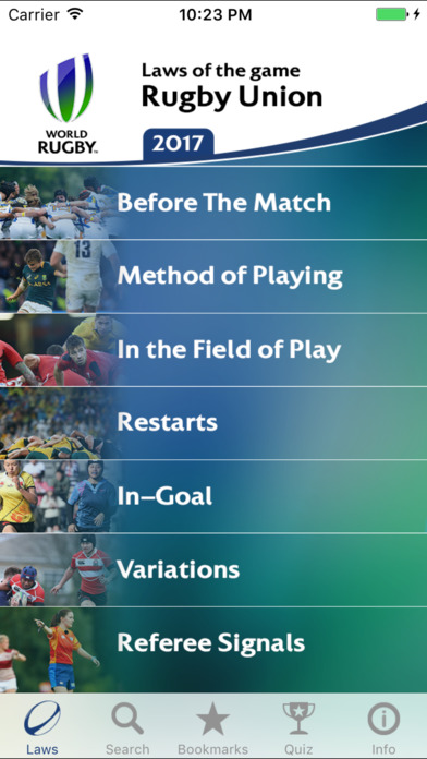 IRB Laws of Rugby iPhone Screenshot 2