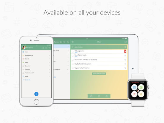 Screenshots of Wunderlist: To-Do List & Tasks for iPad