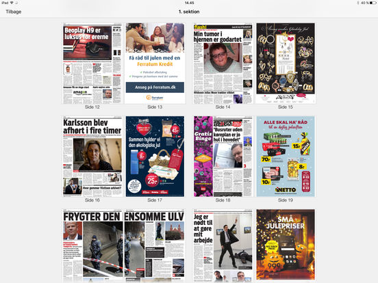 eBladet archive iPad Screenshot 4