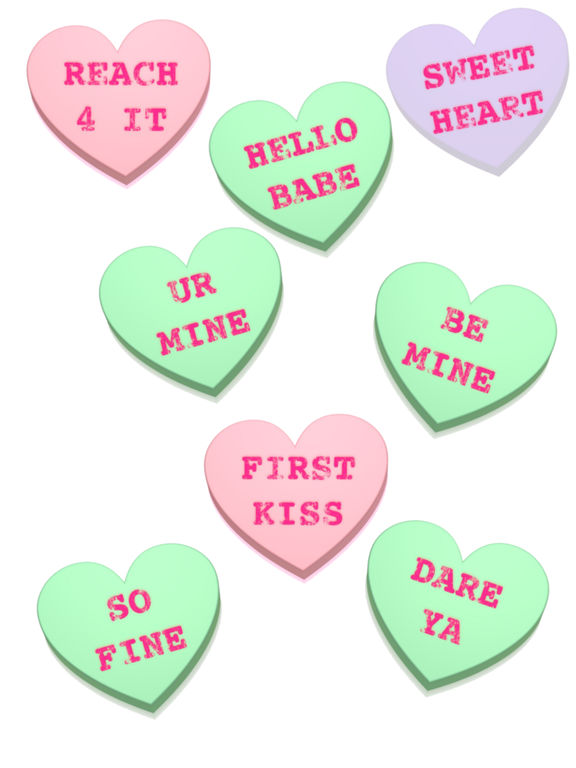 Screenshot #1 for Conversation Hearts XOXO