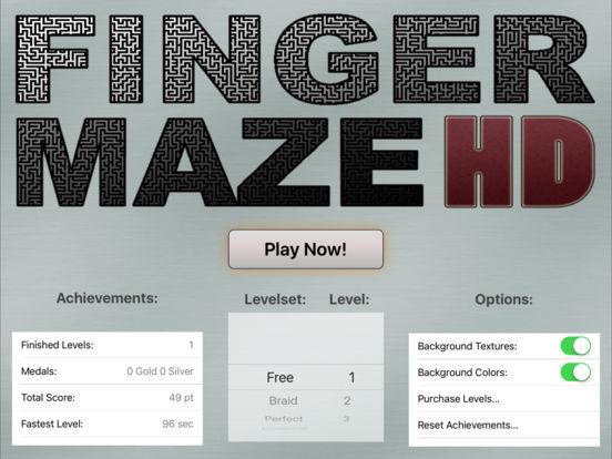 FingerMaze HD iPad Screenshot 1
