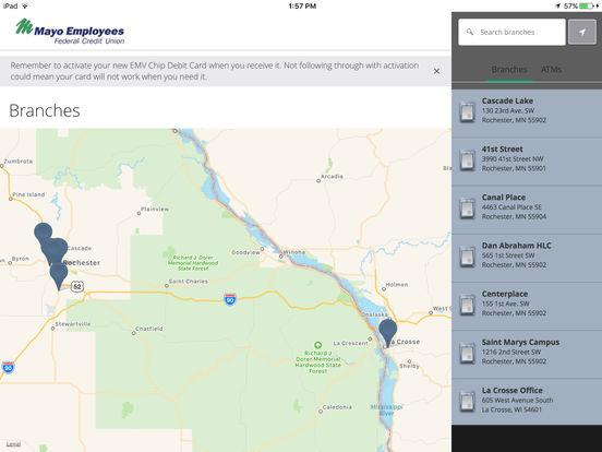Mayo Employees Federal Credit Union Mobile App iPad Screenshot 2