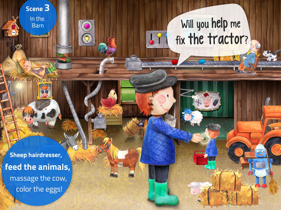 Tiny Farm: Animal & Tractor App for Kids Screenshots
