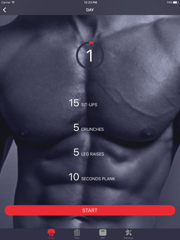 Six pack abs within 30 days - home sixpack workout Screenshots
