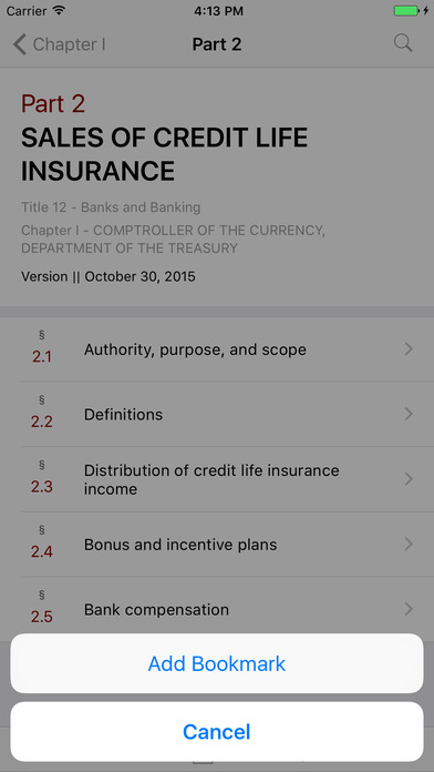 Title 12 Code of Federal Regulations - Banks and Banking iPhone Screenshot 3