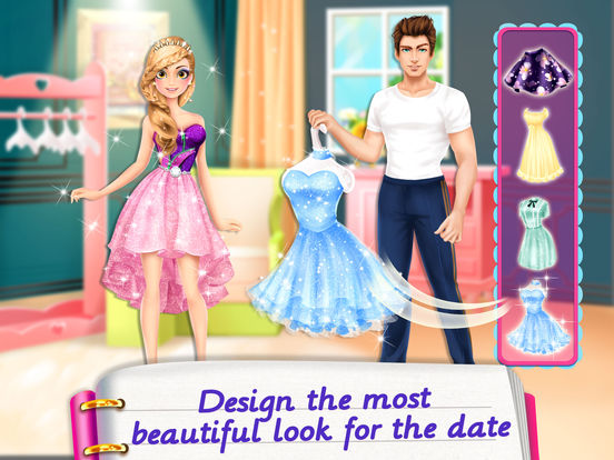 Screenshots of Secret Diary Makeover! Love Story Games for Girls for iPad