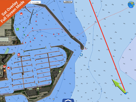 Michigan HD - Water Map Navigator iPad Screenshot 3