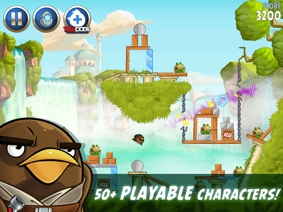 Screenshots of Angry Birds Star Wars II for iPad