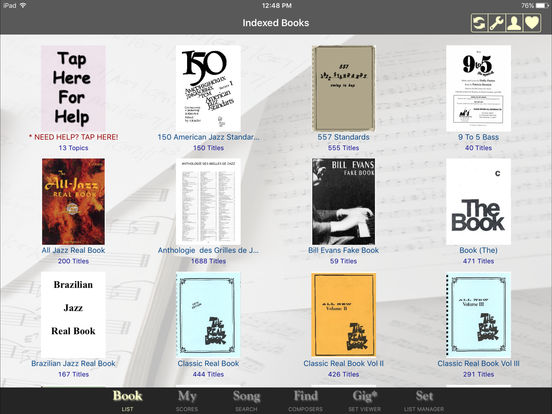 iGigBook sheet music manager iPad Screenshot 1