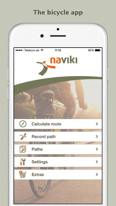 Naviki – das Fahrrad-Navi iPhone Screenshot 1
