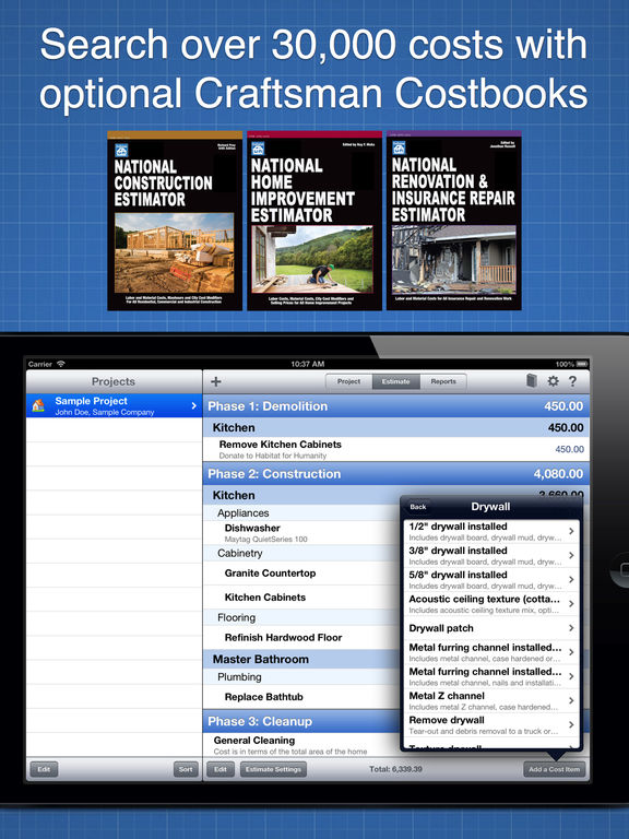 Construction cost estimator on the app store for Construction cost estimator online