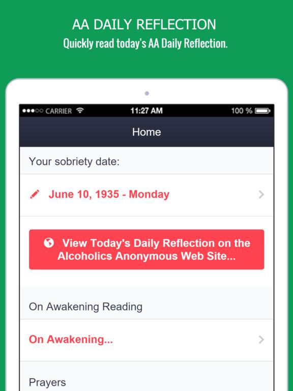 Screenshots of My Spiritual Toolkit - AA 12 Steps App Alcoholics for iPad