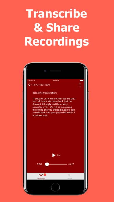 Call Recorder International - Record Phone Calls Apps free for iPhone/iPad screenshot
