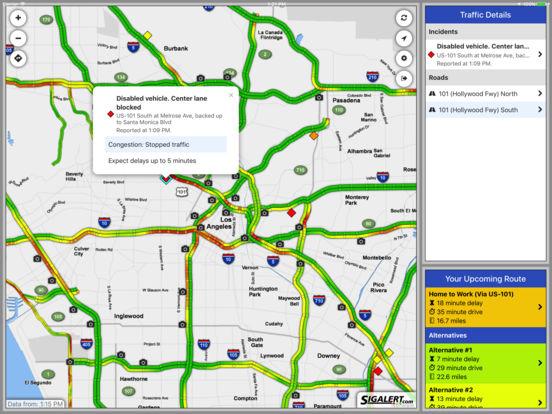 Sigalert.com - Live traffic reports iPad Screenshot 2