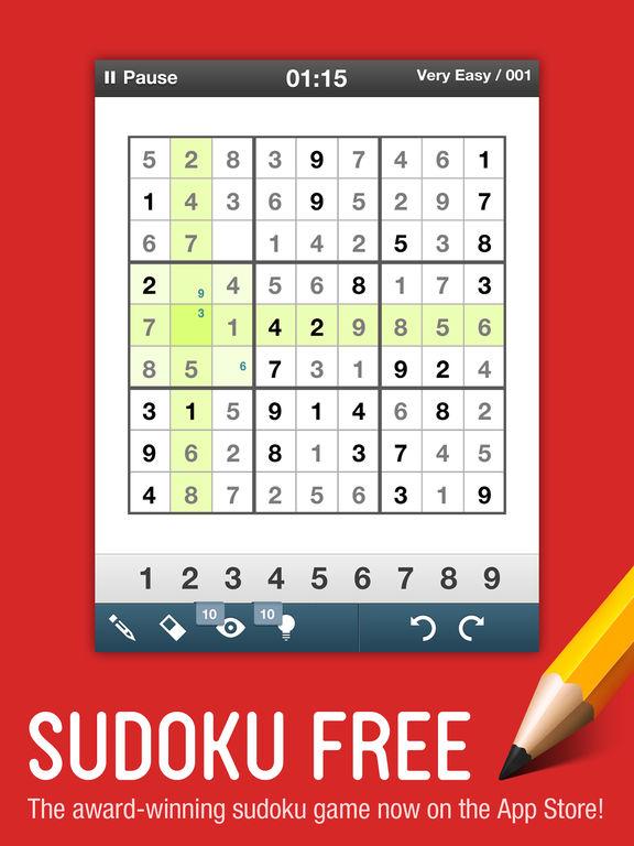 Sudoku Free - Logic and Reasoning Puzzle Solvingscreeshot 1