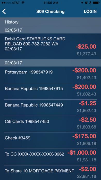 Wescom Credit Union Mobile iPhone Screenshot 2