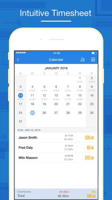 Hours Keeper - Time Tracking, Timesheet & Billing app image