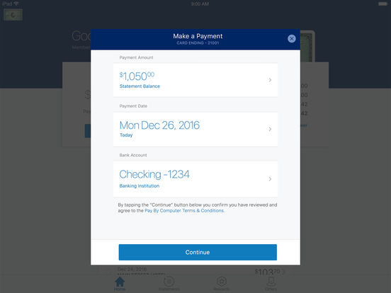 American Express iPad Screenshot 3