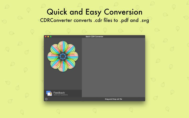 CDRConverter - for CorelDRAW Batch File Converting for Mac
