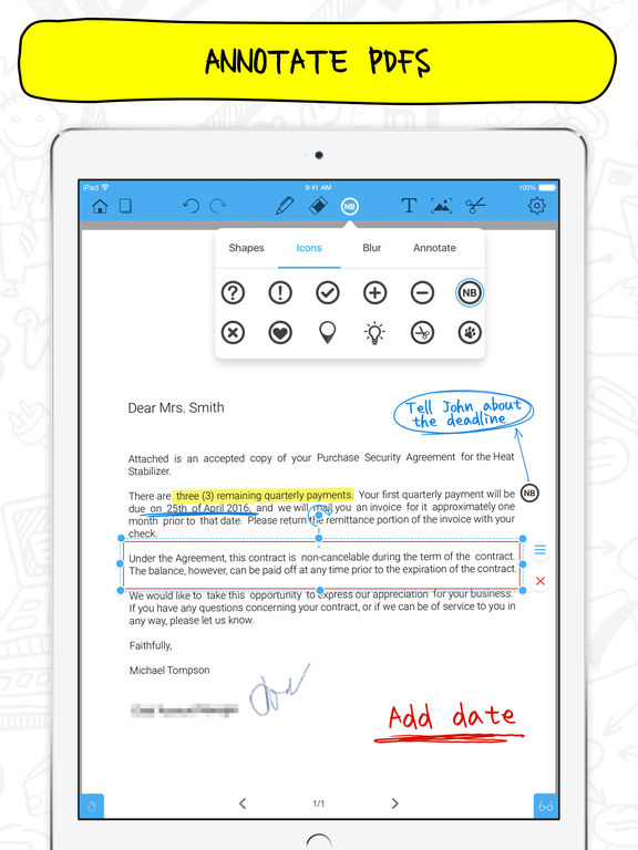 How to Write and Sign PDF Contracts on an iPad