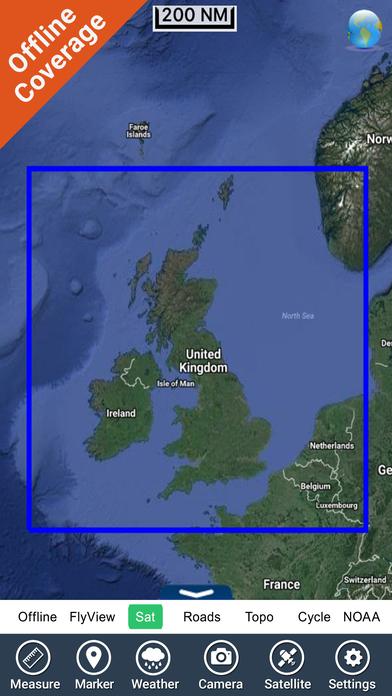Marine: UK Ireland - GPS Map Navigator iPhone Screenshot 5