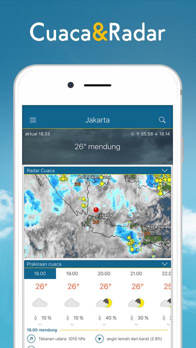 Hasil gambar untuk Radar Cuaca - Ramalan cuaca, suhu dan peta hujan itunes