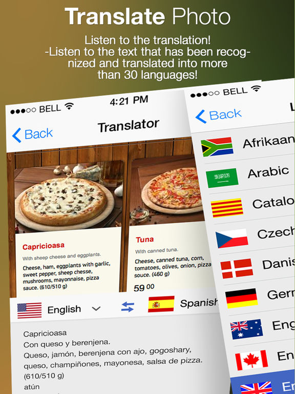 Translate Photo - OCR Camera Scanner & Translator Screenshots