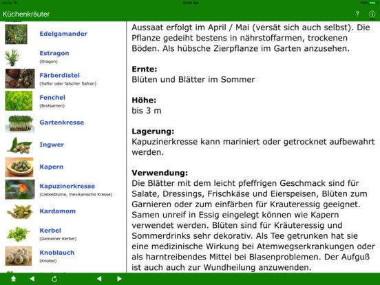 Küchenkräuter iPad Screenshot 5