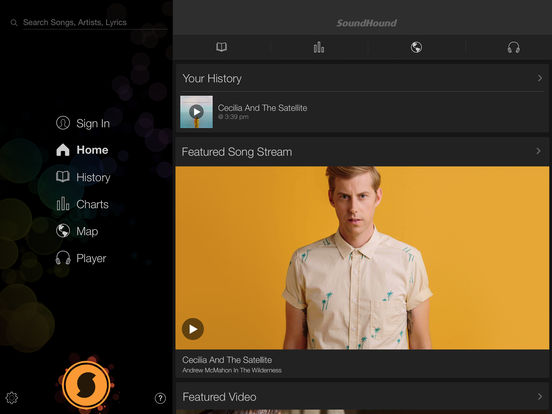 Screenshot #1 for SoundHound∞ Premium Song Search & Music Player