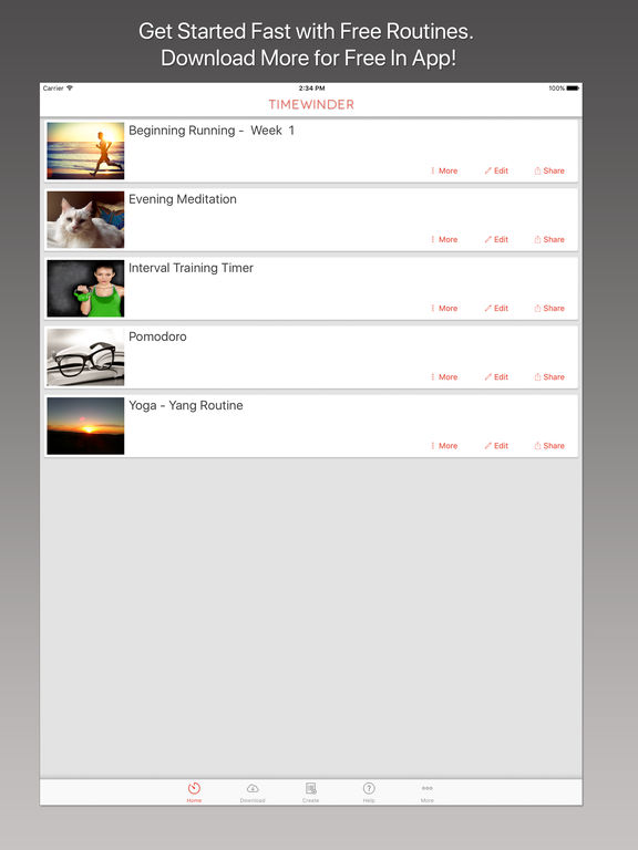 Timewinder – Your Interval Timer and Task Manager Screenshot